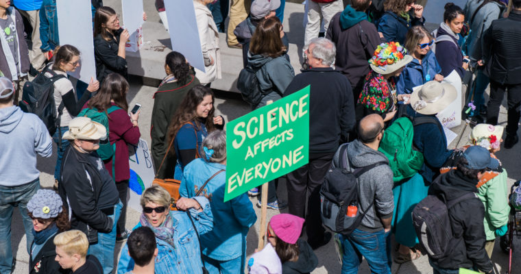 Transcripts at the Toronto March for Science